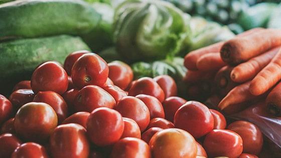 Comer alimentos vegetales saludables